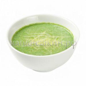Суп-крем из шпината с гренками