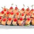 Канапе сэт «французский багет с ветчиной, сыром и салатом»  (20 шт)