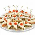 Сэндвич с сыром и овощами (15 шт)